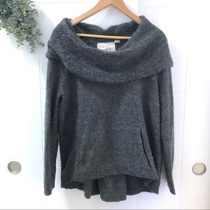 Anthro • Angel of the North Fuzzy Pocket Sweater